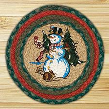 Braided Christmas Table Decor