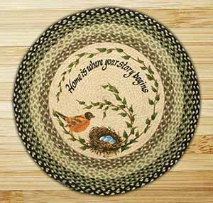 Round Braided Rugs with Artwork