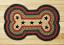 "Black Stars Dog Bone Braided Jute rug 18""x28"""