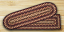 Black Cherry, Chocolate, and Cream Stair Tread, by Capitol Earth Rugs