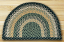 Black and Mustard and Creme Half Moon Braided Jute Rug, by Capitol Earth Rugs
