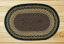 Brown, Black, and Charcoal Braided Jute Rug (Oval)