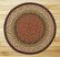 Burgundy and Mustard Braided Jute Rug - the OVAL rug