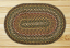 Round Fir and Ivory Braided Jute Rug, by Capitol Earth Rugs.