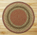 Round Olive, Burgundy, and Gray Braided Jute Rug, by Capitol Earth Rugs.