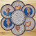 Deep Blue Sea Shell Braided Jute Trivet Set, by Capitol Earth Rugs