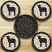 Sheep Silhouette Braided Coaster Set, by Capitol Earth Rugs
