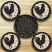 Rooster Silhouette Braided Coaster Set, by Capitol Earth Rugs