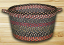 Burgundy, Blue, & Gray Utility Basket, by Capitol Earth Rugs