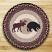Black Bear & Moose Braided Jute Chair Pad, by Capitol Earth Rugs