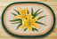 Yellow Lilies Oval Patch Rug, by Capitol Earth Rugs.