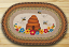 Bee Skep Oval Patch Rug, by Capitol Earth Rugs.