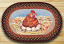 Hen & Eggs Oval Patch Rug, by Capitol Earth Rugs