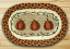 Harvest Pumpkin Braided Jute Tablemat - Oval