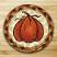 Harvest Pumpkin Jute Coaster