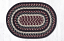 Burgundy, Black, and Tan Cotton Braided Placemat - Oval