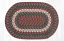 Burgundy and Gray Cotton Braided Placemat - Oval