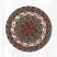 Burgundy and Gray Cotton Braid Trivet