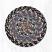 Burgundy, Blue, and Gray Cotton Braid Trivet