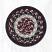 Burgundy, Black, and Tan Cotton Braid Trivet