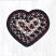 Burgundy, Black, and Tan Cotton Braid Trivet - Heart