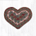 Burgundy and Gray Cotton Braid Trivet - Heart