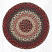 Burgundy Braided Jute Chair Pad