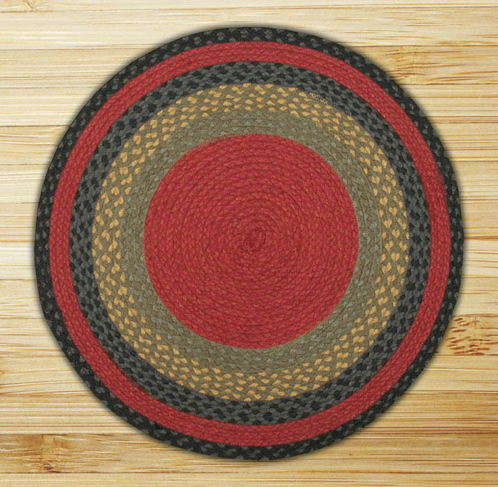 Burgundy Olive And Charcoal Braided Jute Rug By Capitol