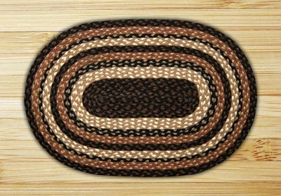 Mocha Frappuccino Braided Jute Tablemat - Oval