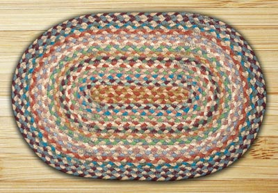 Multi Braided Jute Tablemat - Oval