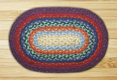 Rainbow 1 Braided Jute Tablemat - Oval