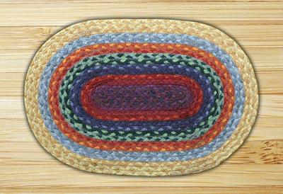 Rainbow 2 Braided Jute Tablemat - Oval