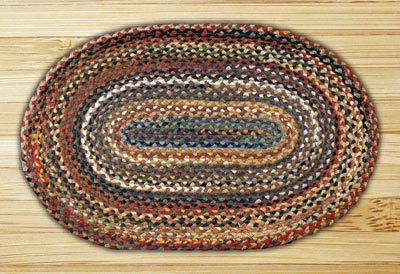 Random Braided Jute Rug, Oval - 20 x 30 inch