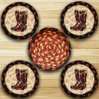 Boots Braided Coaster Set