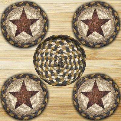 Gold Star Braided Coaster Set