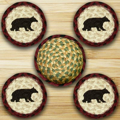 Cabin Bear Braided Coaster Set
