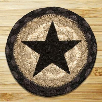 Black Star Jute Coaster