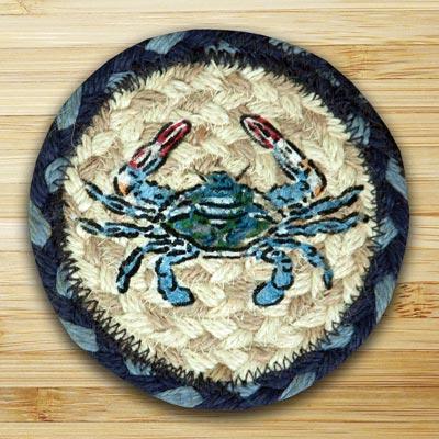 Blue Crab Jute Coaster