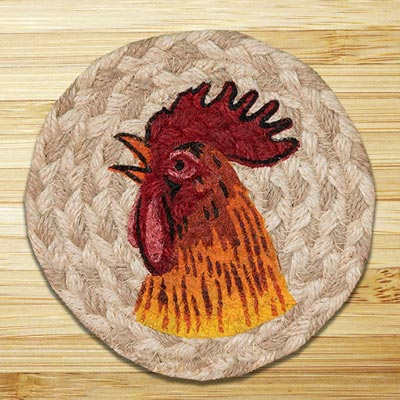 Rooster Jute Coaster