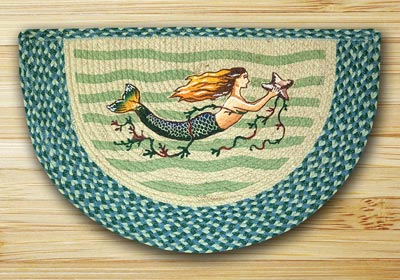 Mermaid Half Moon Braided Jute Rug