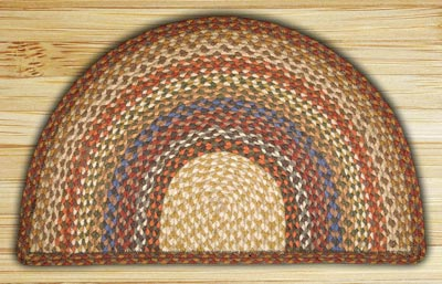 Honey, Vanilla, and Ginger Half Moon Braided Jute Rug - Small
