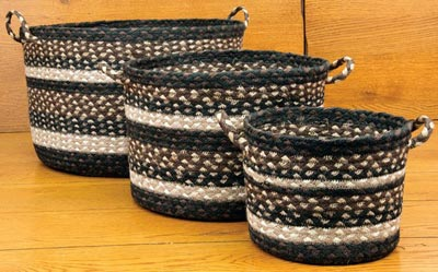 Mocha and Frappuccino Braided Utility Basket - Large