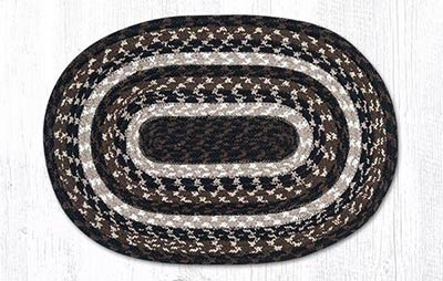 Mocha and Frappuccino Cotton Braided Placemat - Oval