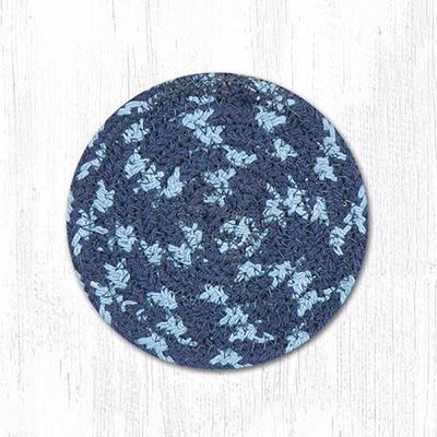 Blueberry and Creme Cotton Braid Coaster