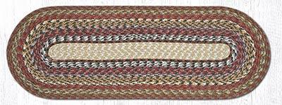 Honey, Vanilla, and Ginger Cotton Braid Tablerunner - 36 inch