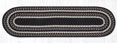 Mocha and Frappuccino Cotton Braid Tablerunner - 48 inch
