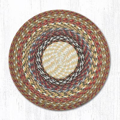 Honey, Vanilla, and Ginger Cotton Braid Chair Pad