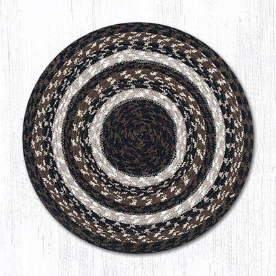 Mocha and Frappuccino Cotton Braid Chair Pad