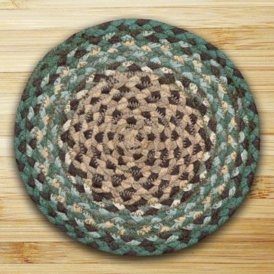 Dark Green Braided Tablemat - Round
