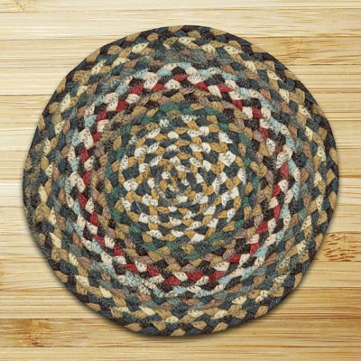 Fir and Ivory Braided Tablemat - Round